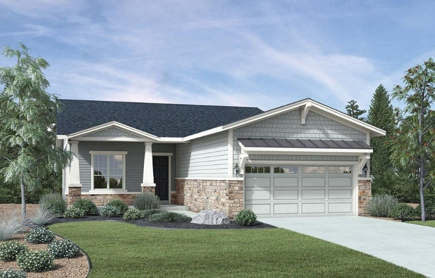 Carson, a Beautiful Colorado Model New Home by Toll Brothers (55+)