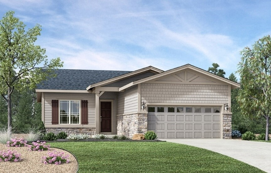 Logan, a Beautiful Colorado Model New Home by Toll Brothers (55+)