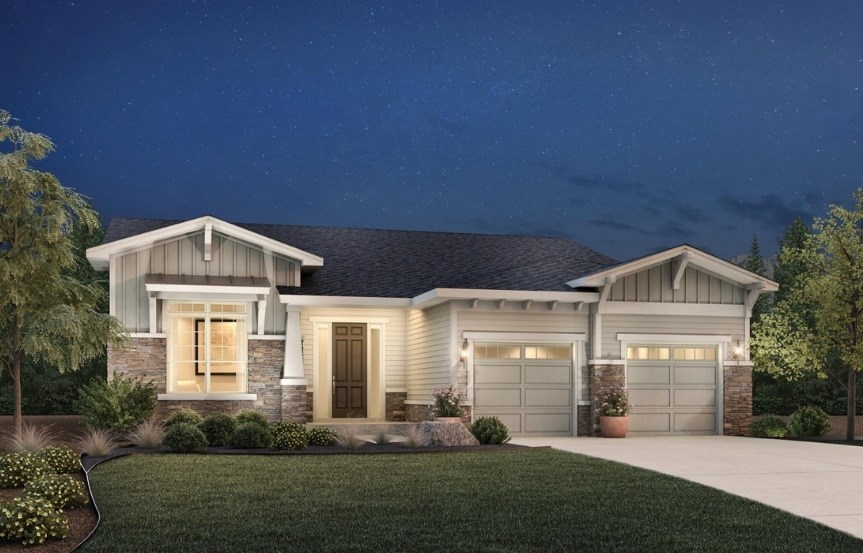 Dunraven, a Beautiful Colorado Model New Home by Toll Brothers (55+)