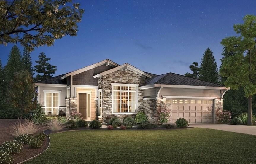 Pendleton, a Beautiful Colorado Model New Home by Toll Brothers (55+)