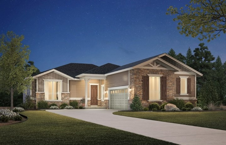 Windom, a Beautiful Colorado Model New Home by Toll Brothers (55+)