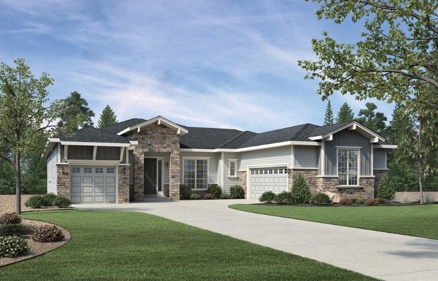 Warren, a Beautiful Colorado Model New Home by Toll Brothers (55+)