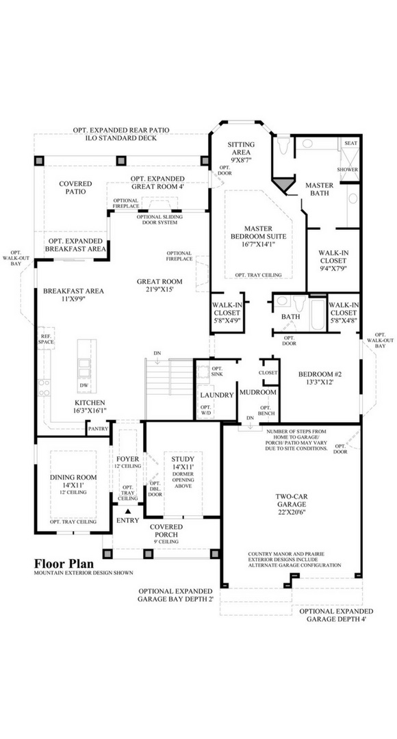 Trelease main level, a Beautiful Colorado Model New Home by Toll Brothers (55+)
