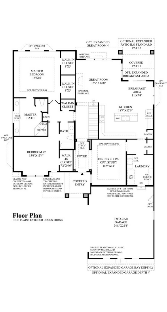 Windom main level, a Beautiful Colorado Model New Home by Toll Brothers (55+)