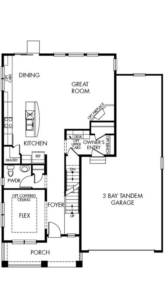 Glacier main level, a Beautiful Colorado Model New Home by Meritage Homes