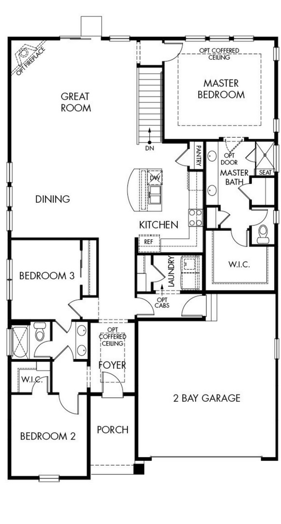 Timberline main level, a Beautiful Colorado Model New Home by Meritage Homes