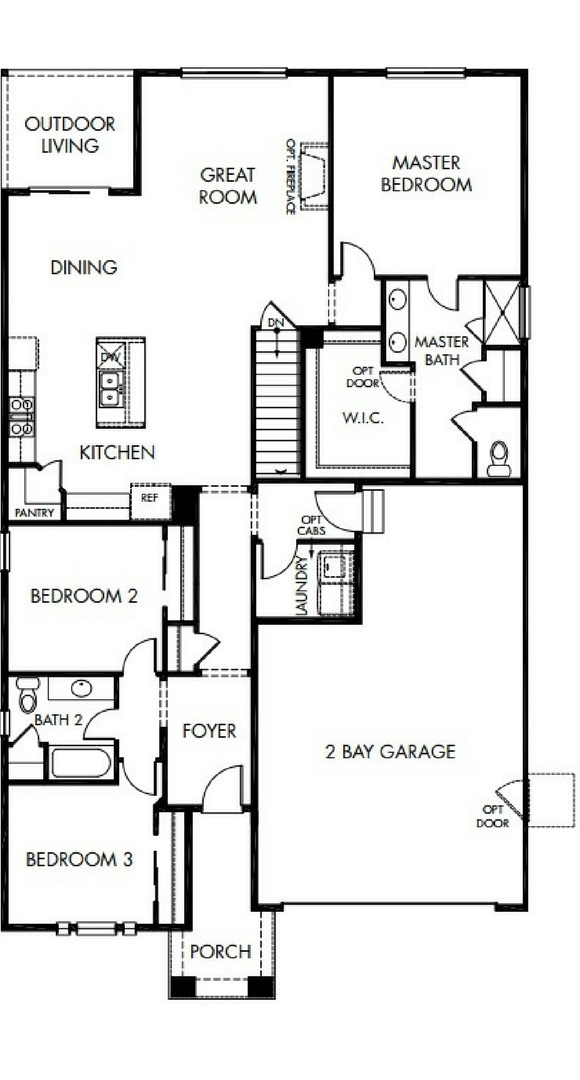 Northgate main level, a Beautiful Colorado Model New Home by Meritage Homes