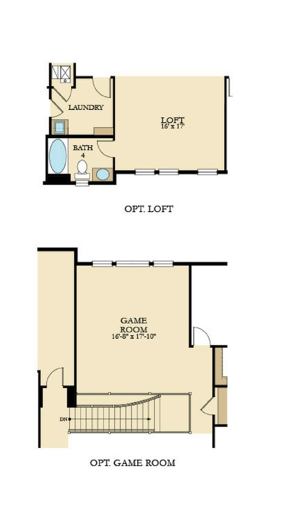 Prescott second floor unfurnished options, a Beautiful Colorado Model New Home by Lennar