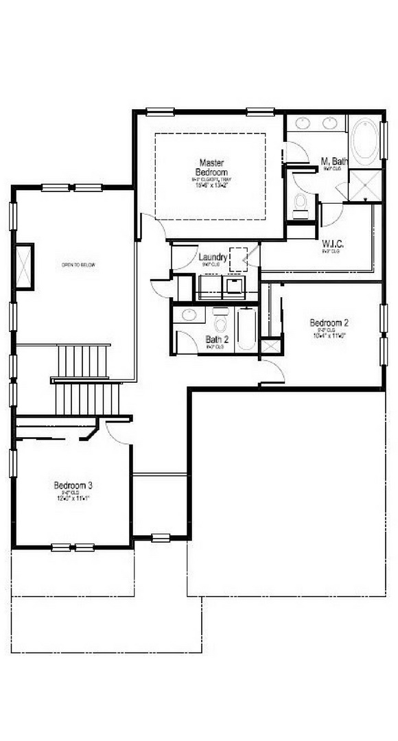 Willow second level, a Beautiful Colorado Model New Home by Dream Finders