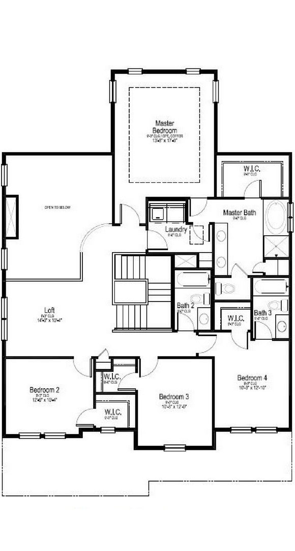 Madison second level, a Beautiful Colorado Model New Home by Dream Finders