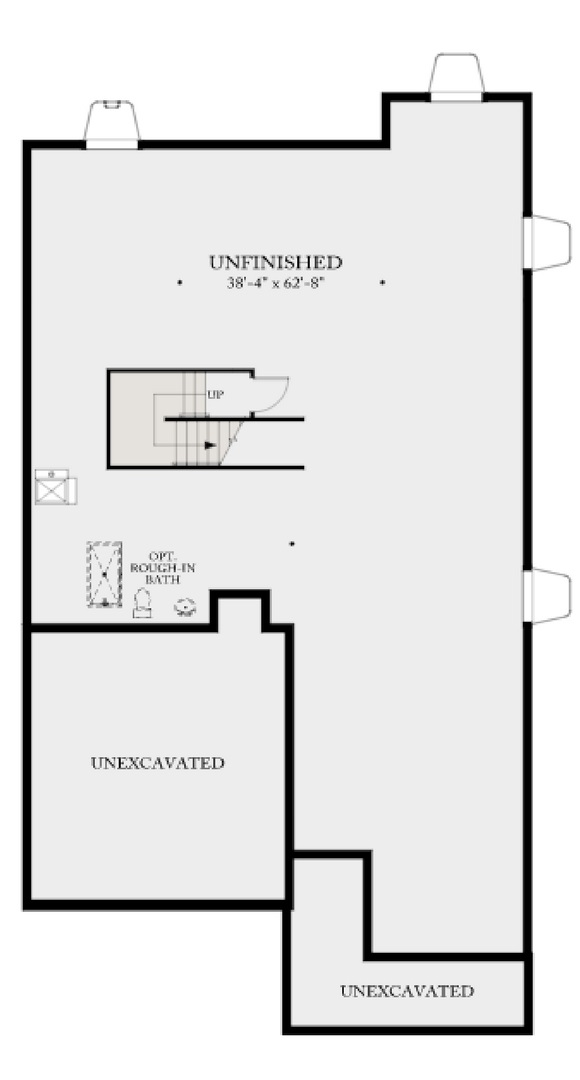 Residence 4A05 basement, a Beautiful Colorado Model New Home by CalAtlantic