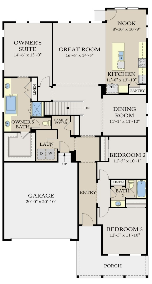 Residence 4A05 main level, a Beautiful Colorado Model New Home by CalAtlantic