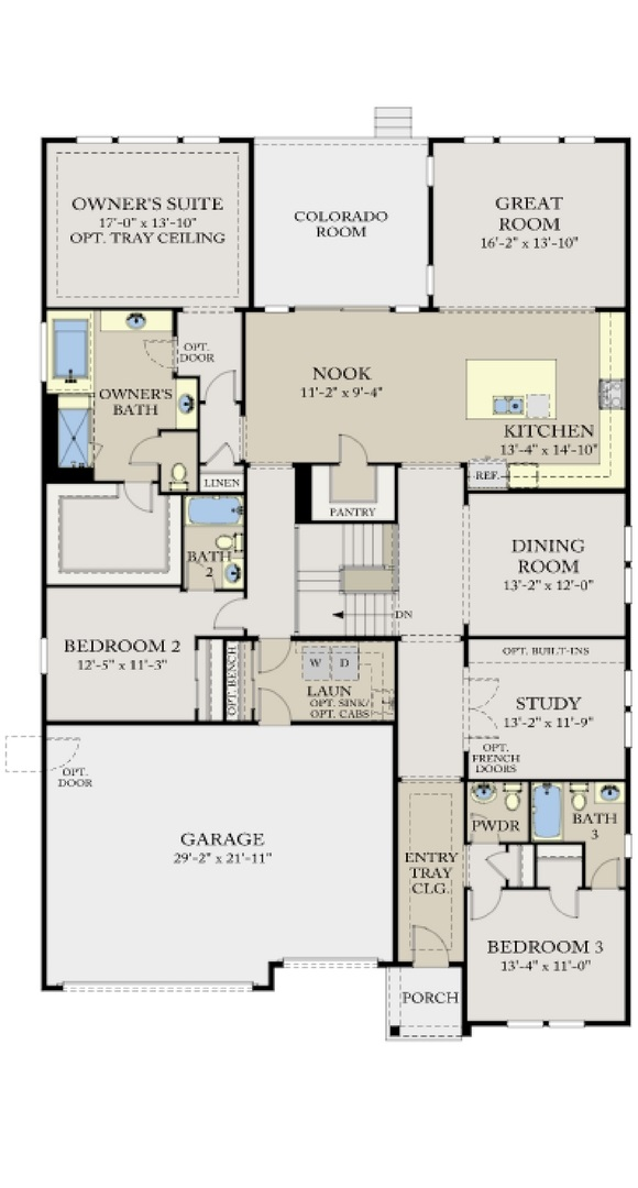 Residence 5A04 main level, a Beautiful Colorado Model New Home by CalAtlantic