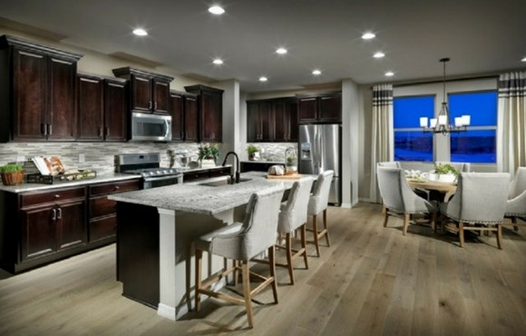 Kitchen of a New Home by CalAtlantic Homes in Parker Colorado area