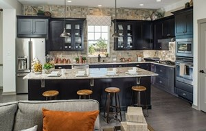 Kitchen of a New Home by David Weekley Homes in Parker Colorado area
