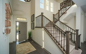 Entrance of a New Home by David Weekley Homes in Parker Colorado area
