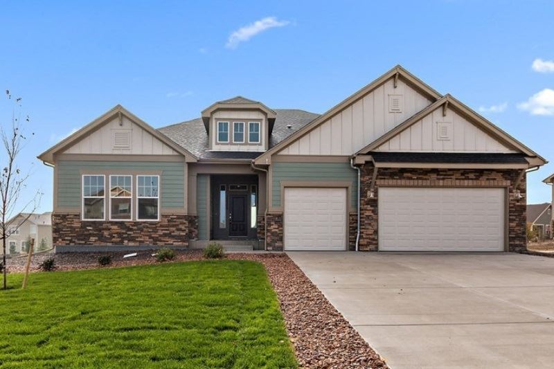 Exterior of a New Home by David Weekley Homes in Parker Colorado area