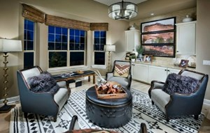 Great Room of a New Home by Toll Brothers 55+ in Colorado