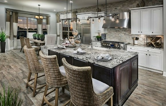 Kitchen of a New Home by Toll Brothers 55+ in Parker Colorado