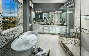 Master Bath of a New Home by Toll Brothers 55+ in Parker Colorado