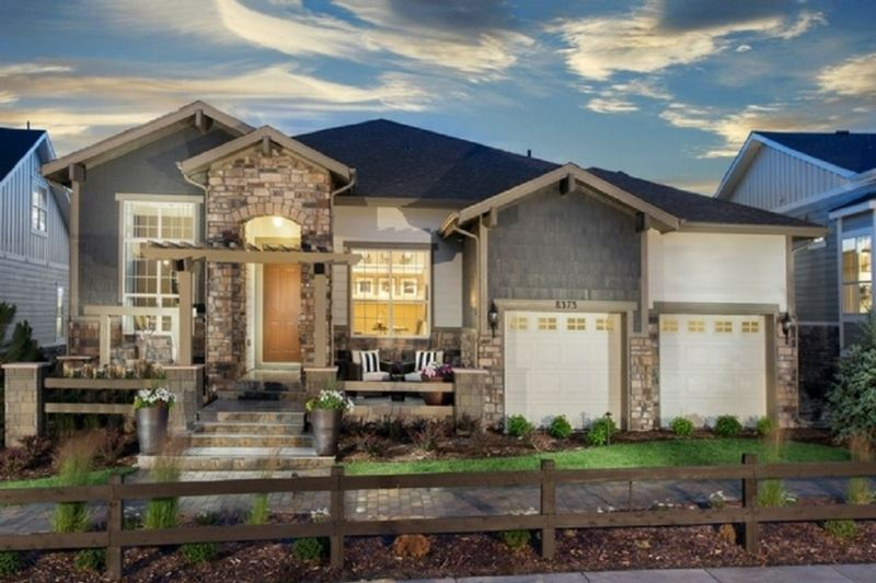 Exterior of a New Home by Toll Brothers 55+ in Parker Colorado