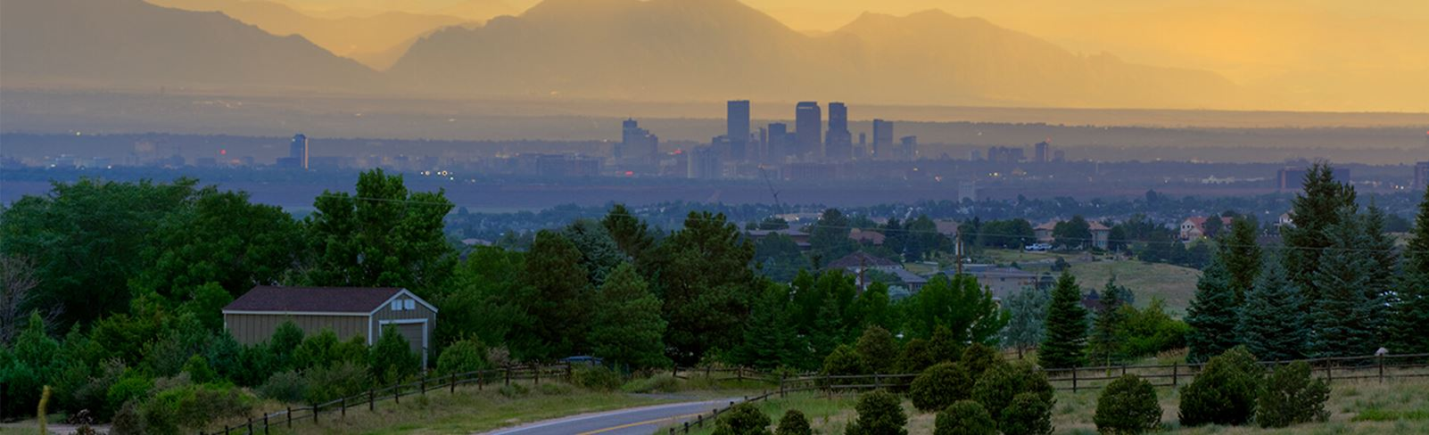 View of Denver from Inspiration Colorado, a new home development Near Denver