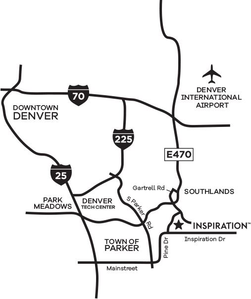 Area Map of a New Home Community Development in Colorado