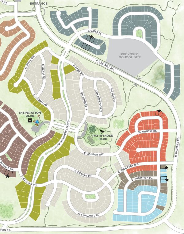 Community Map of New Housing Development Near Denver
