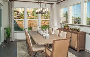 Dining Area of a New Home by David Weekley Homes in Parker Colorado area