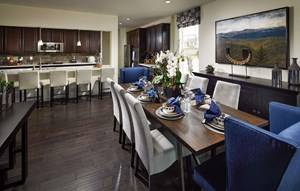 Lennar Superhome model dining area in Inspiration