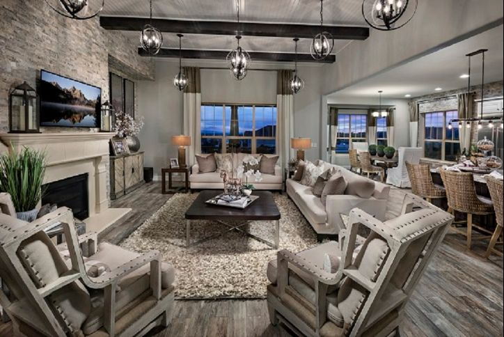 Toll Brothers (55+) Antero great room at Inspiration