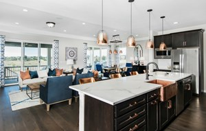 Kitchen of a New Home by Dream Finders Homes in Parker Colorado Area