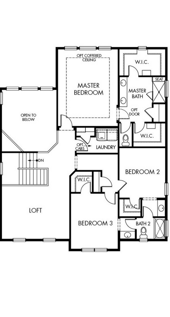 New home second level floorplan at 8800 S. Duquesne Ct by Meritage in Inspiration