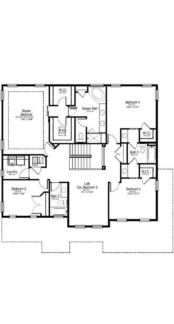 New Home second level floorplan at 23895 E. Rocky Top Pl by Dream Finders