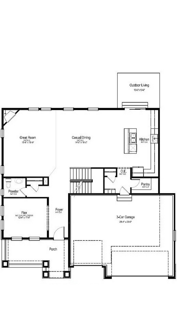 New Home main level floorplan at 23895 E. Rocky Top Pl by Dream Finders