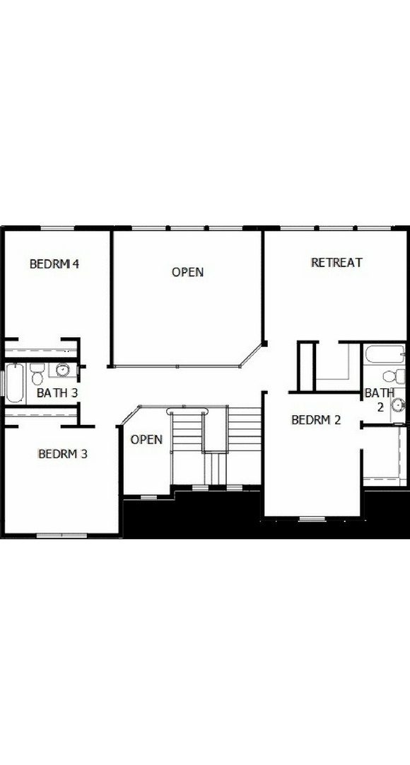New home second level floorplan at 8605 S. Zante Ct by David Weekley
