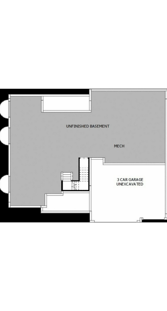 New home basement floorplan at 8605 S. Zante Ct by David Weekley