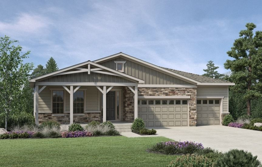 Drake, a Beautiful Colorado Model New Home by Toll Brothers (55+)