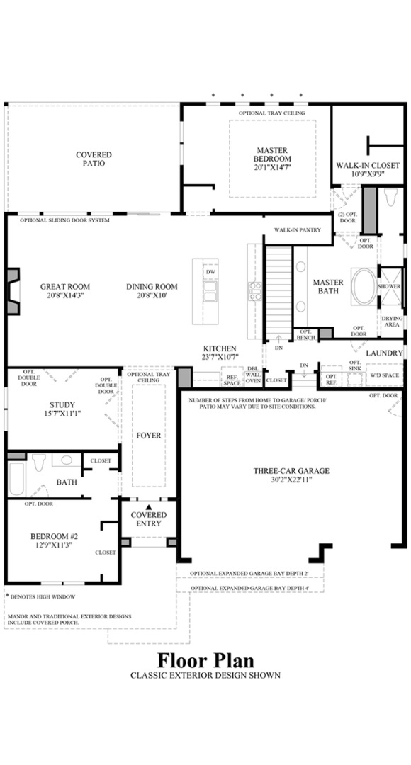 Drake floorplan, a Beautiful Colorado Model New Home by Toll Brothers (55+)