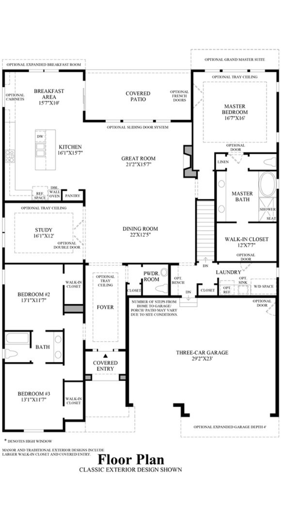 Berkley floorplan, a Beautiful Colorado Model New Home by Toll Brothers (55+)