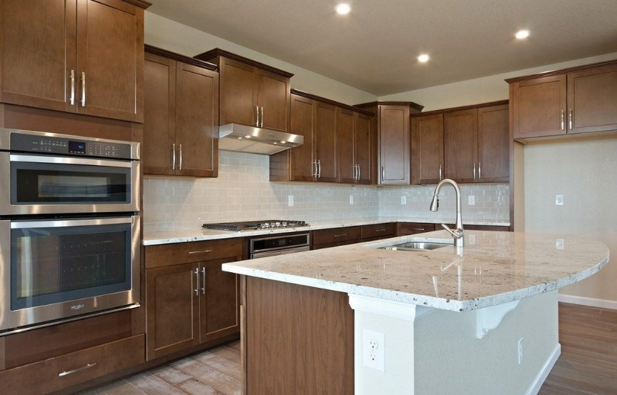 New home kitchen at 8800 S. Duquesne Ct by Meritage in Inspiration