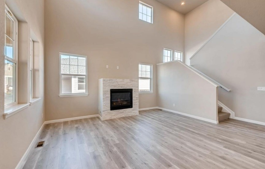 New Home fireplace at 23835 E. Rocky Top Pl by Dream Finders