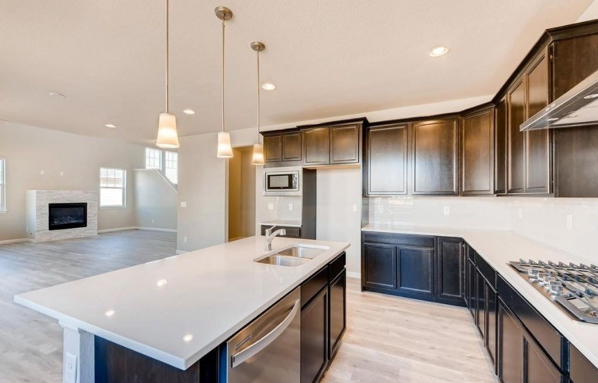 New Home kitchen at 23835 E. Rocky Top Pl by Dream Finders