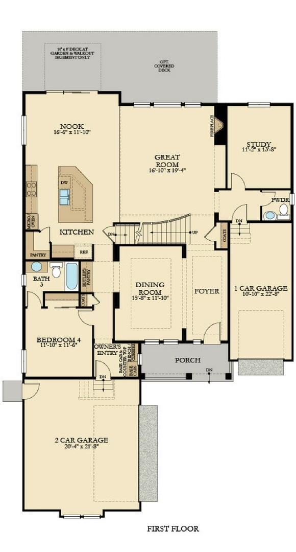 New home main level floorplan at 8778 S. Zante St by Lennar | Inspiration Colorado, Aurora CO