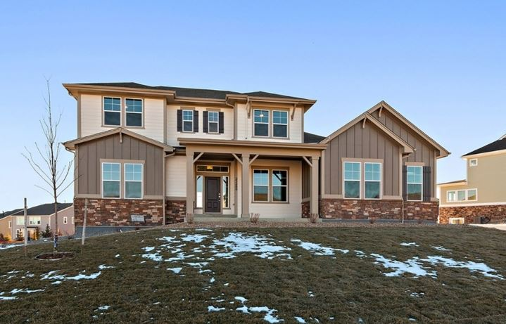 New home at 23280 E. Rockinghorse Pkwy by David Weekley