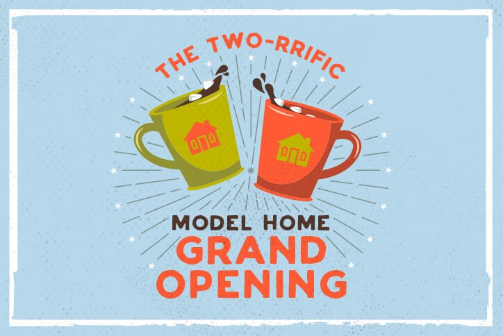 The two-rrific model home grand opening Richmond American Homes Inspiration community Parker CO