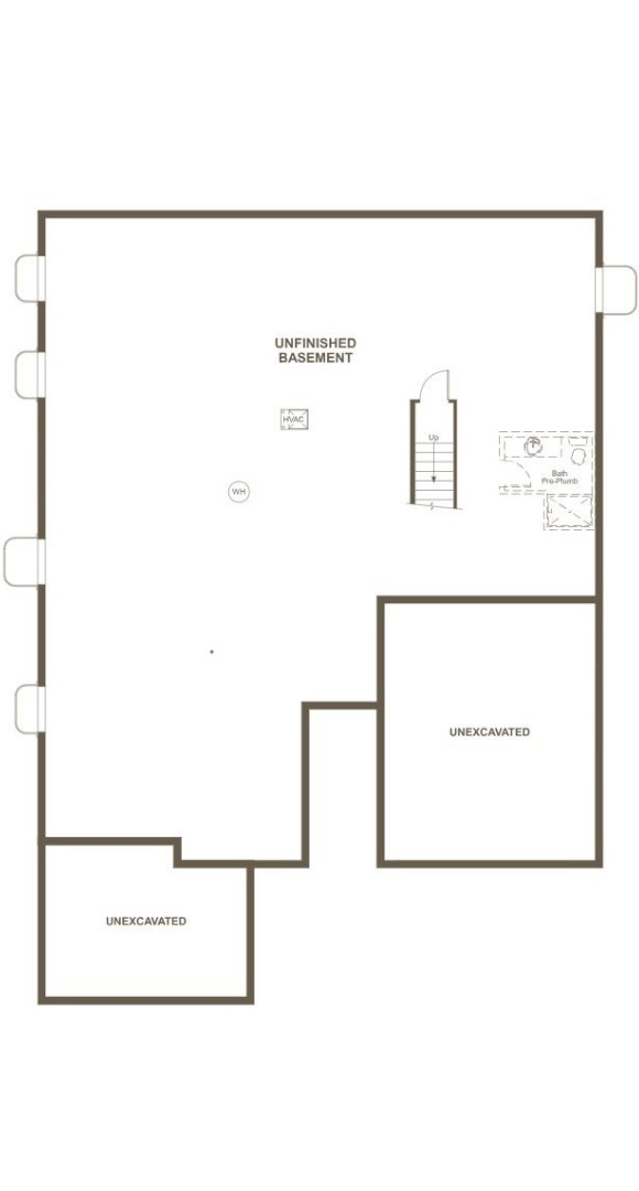 Daniel, a Beautiful Colorado New Home basement floorplan by Richmond American Homes