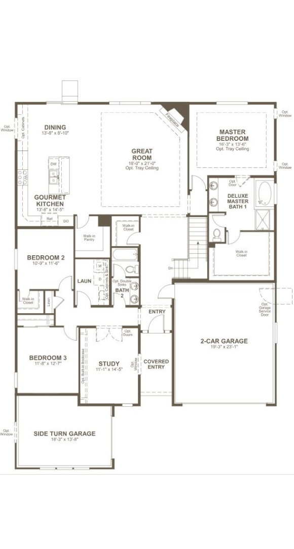 Daniel, a Beautiful Colorado New Home main level floorplan by Richmond American Homes