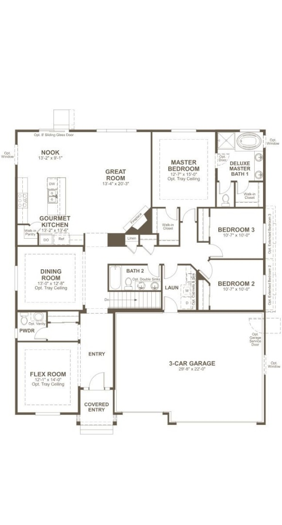 Dearborn, a Beautiful Colorado New Home main level floorplan by Richmond American Homes