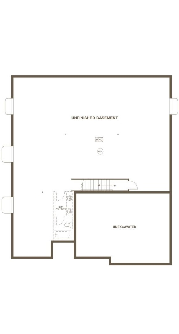 Dearborn, a Beautiful Colorado New Home basement plan by Richmond American Homes